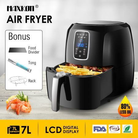 1800W Maxkon 7L Oil Free Digital XL Air Fryer Turbo Cooker Oven Timer