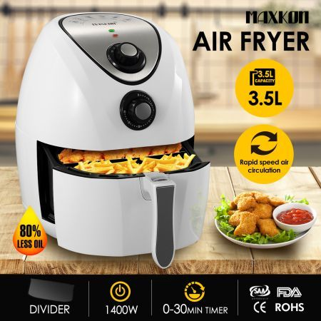 4.4L Oil Free Air Fryer Cooker with Recipes Cooker - White ...