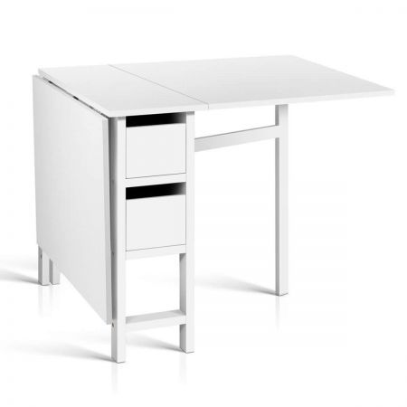Gateleg Dining Table with Adjustable Table Size