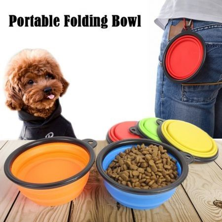Pet Portable Folding Feeding Bowl Silicone Water Dish