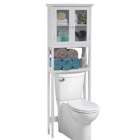 Classic Over The Toilet Storage Rack   White