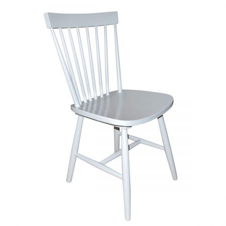 Simple Living Ari Rubberwood Set of 2 Dining Chairs - Grey