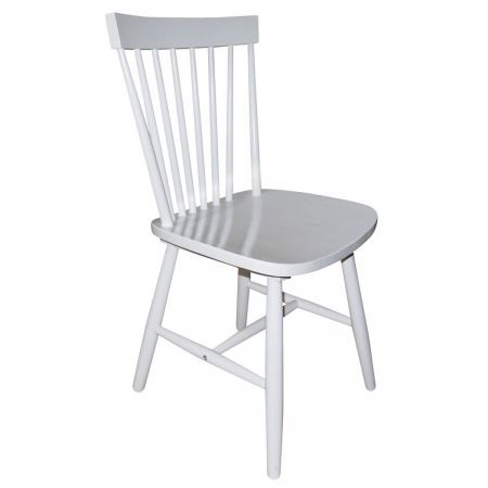 Simple Living Ari Rubberwood Set of 2 Dining Chairs - White