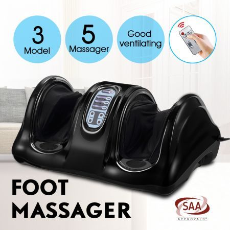 Foot Ankle Calf Massager Foot Circulation Machine - Black