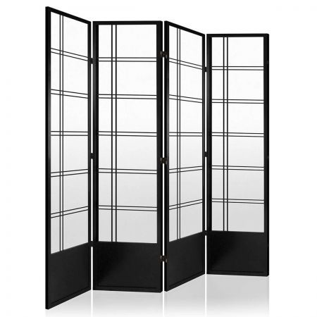 Nice 4 Panel Room Divider   Black
