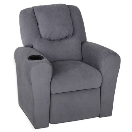Keezi Luxury Kids Recliner Sofa Children Lounge Chair Couch Fabric Armchair GY