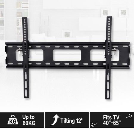 "40""-65"" TV Brackets TV Mount Secure Steel TV Wall Mount with Adjustable Angles 0-12 Degrees"