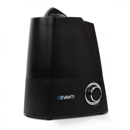 Ultrasonic Cool Mist Air Humidifier - Black