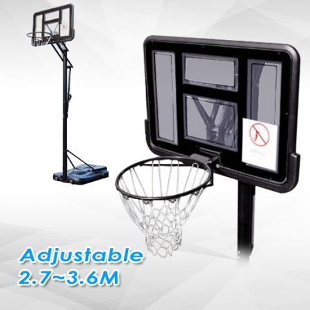Portable Height Adjustable Basketball Ring With Spring Loaded System