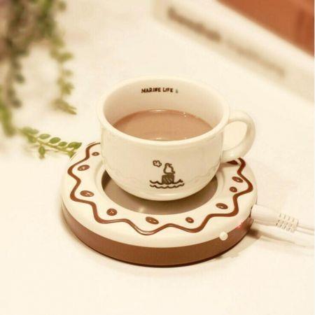 USB Electronic Warmer Coffee Milk Tea Cup Heating Pad Plate