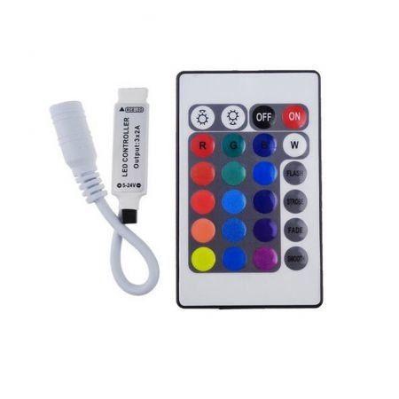 12v 24 key rgb mini ir remote controller for rgb led strip light 12v 24 key rgb mini ir remote controller for rgb led strip light aloadofball Gallery