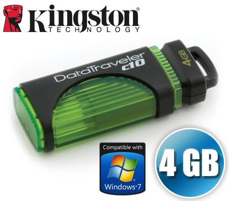 FREE SHIPPING Kingston 4GB DataTraveler c10 USB High-Speed Flash Memory Drive DTC10 4G 4 GB Pen Drive