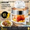 Maxkon 17L Halogen Oven Turbo Convection Cooker Electric Air Fryer White