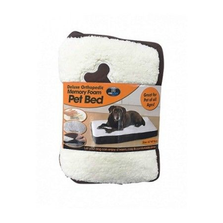 Orthopedic Memory Foam Pet Bed Small - 65x40x8cm
