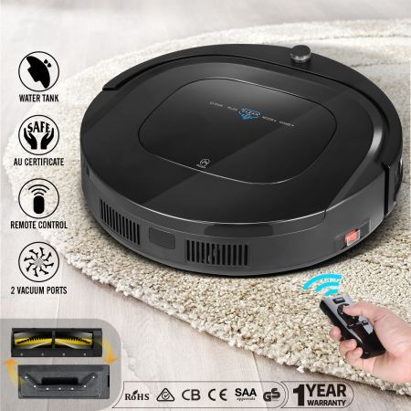 MAXKON 12-in-1 Automatic Robot Vacuum Cleaner with Interchangeable Roller Brush Kit & Suction Kit