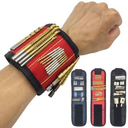 Magnetic Wristband W// Strong Magnets for Holding Screws Nails Drilling Bits Tool