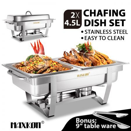 Super 2 X 4 5L Bain Marie Stainless Steel Food Warmer Chafing Dish Interior Design Ideas Apansoteloinfo
