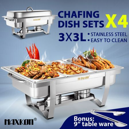 9l bain marie stainless steel food warmer cheap chafing dish with rh crazysales com au