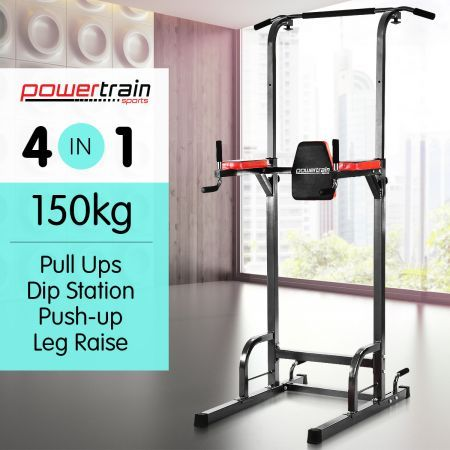Powertrain Multi Station Chin-Up Tower Home Gym