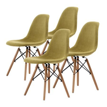Replica Eames DSW Dining Chair X4 - Green
