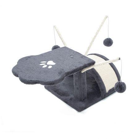 Cat Tree Scratching Post Scratcher Pole Gym Toy House BONSAI 45cm - Grey