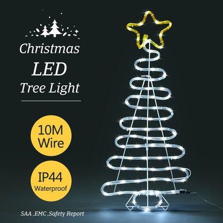 3D Christmas Tree Light 10M LED Rope Fairy Xmas Decor Figure ...