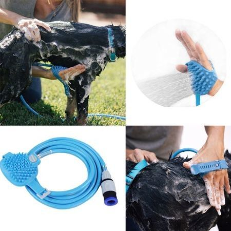 Pet Dog Cat Bathing Cleaner Shower Tool Kit Cool Wash Massage Bathing Brush