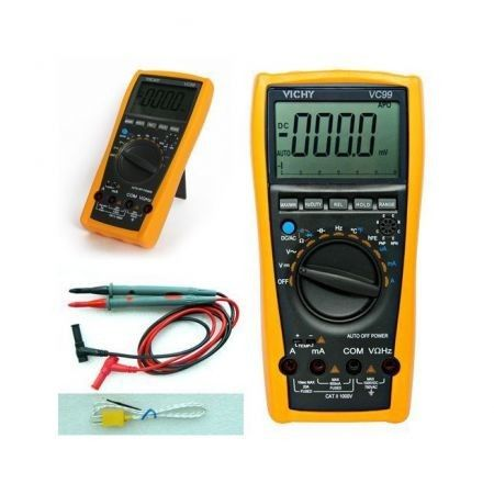 VC99 Multimeter Digital Auto Range Voltmeter Thermometer Resistance AC DC