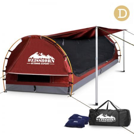 Double Camping Swag - Red