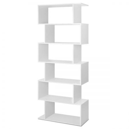6 Tier Display Shelf - White