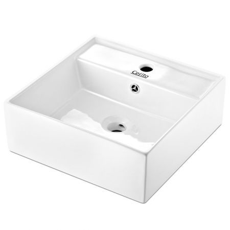 Ceramic Sink Square 41.5 x 41.5cm - White