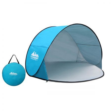 Weisshorn 3 Person Pop-Up Camp Tent Arch - Blue