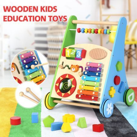 Wooden Educational Toys for Toddlers Kids Children Push Activity Toys