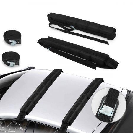 2 X Car Roof Soft Racks Surf Sup Kayak Surfboard Luggage