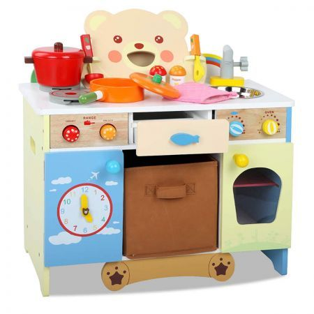 wooden kitchen accessory set wooden kitchen playset with 10pcs cooking accessories 1629
