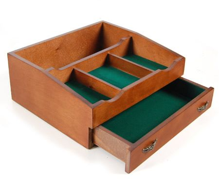 Wooden 2 Level Jewellery Storage Box with Slide Out Drawer u0026 Accessory Tray - W-60262  sc 1 st  CrazySales & Wooden Jewellery Box - www.CrazySales.com.au   Crazy Sales