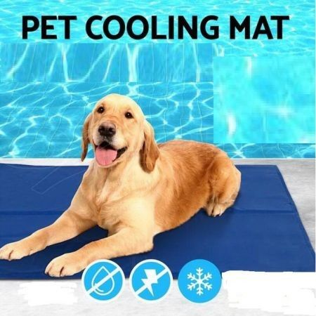 Pet Cool Gel Mat Dog Cat Bed Non-Toxic Cooling Dog Summer Pad 3 Sizes