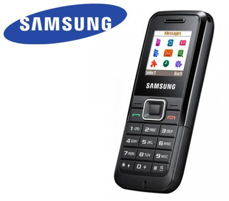 Samsung E1070 Mobile Phone with 1.38-inch CSTN 65K Screen / Torchlight / Polyphonic Ringtones - Black