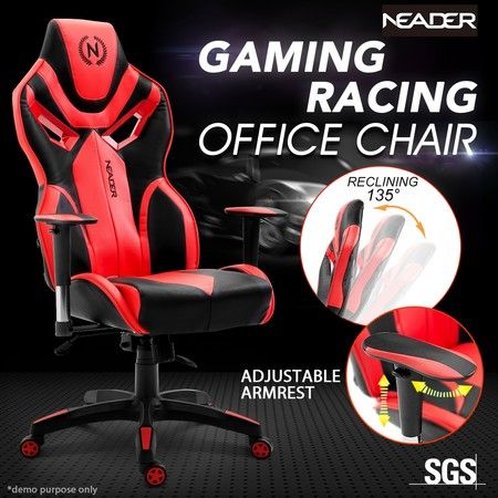 Executive Racing Sport Gaming PU Leather Computer Office Desk Chair w/Armrest