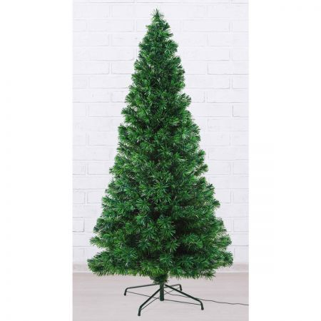 6Ft 300 Branches Fibre Optic LED Xmas Tree - MULTI COLOUR + Bauble Balls