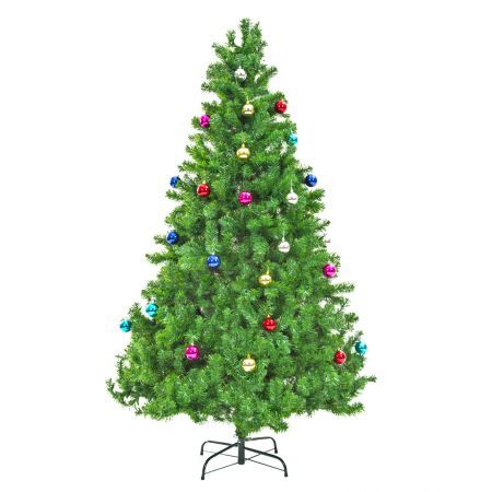 8Ft 240cm Green Christmas Tree - Baubles
