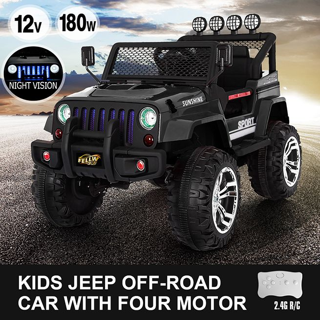 Kids Electric Car Remote Control Ride On Truck Jeep Off Road With Built In Songs Ebay