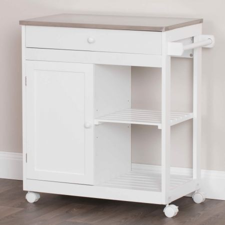 Kitchen Trolley With Stainless Steel Counter Top   Crazy Sales
