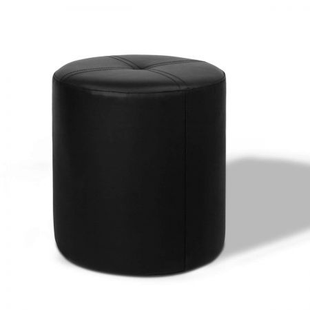 PVC Leather Round Ottoman Anti-skid Pads - Black