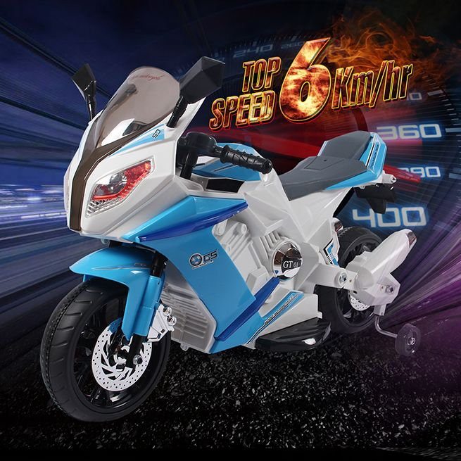 Kids Motorcycle Ride On Motorbike Toy Electric Car W Built
