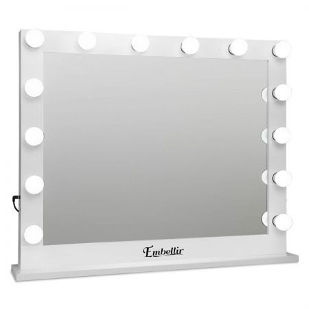 Makeup Mirror Frame with LED Lights 65x80cm - White