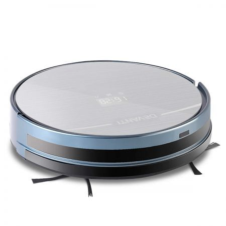 Devanti 300ml Robot Vacuum Cleaner - Silver and Blue