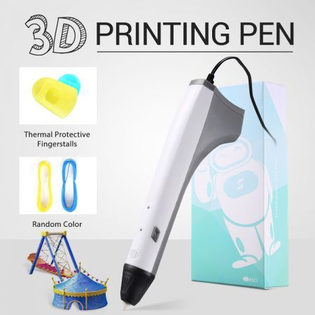 Ailink 3D Printing Pen Drawing Gift w/PCL Filaments & Protective Fingertips