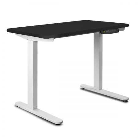 140CM Motorised Height Adjustable Sit Stand Desk - Black
