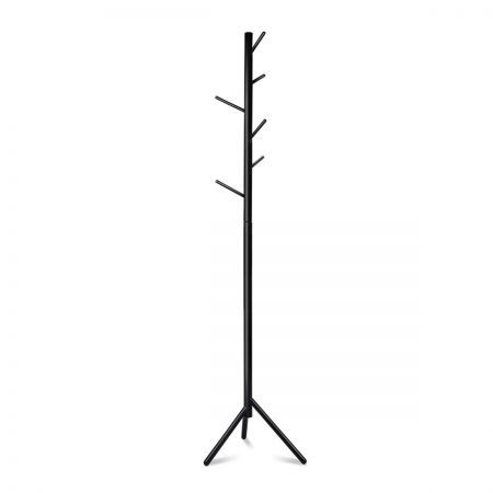 Wooden Coat Rack Clothes Stand Hanger - Black
